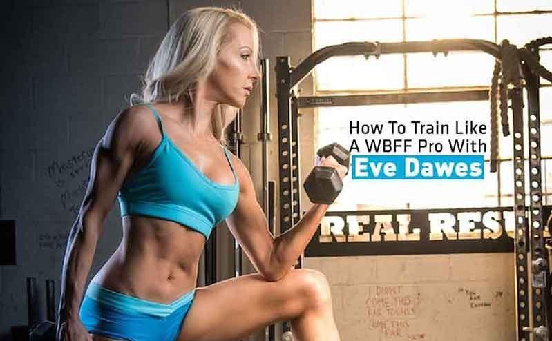 womens fitness magazine model eve dawes biceo curl