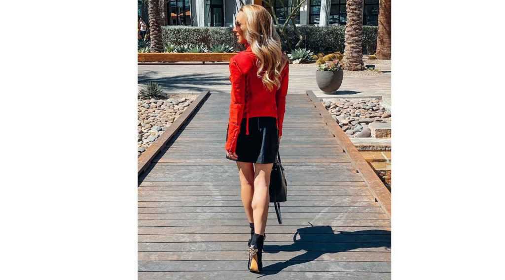 knee high boots alternative black suede boots fashion blogger Eve Dawes walking