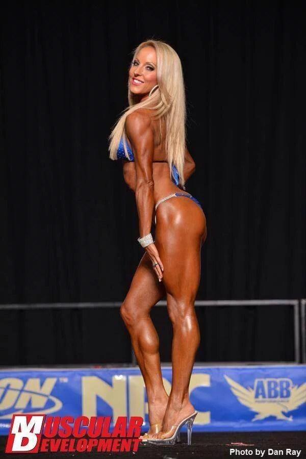 WBFF Pro legs and butt blue bikini