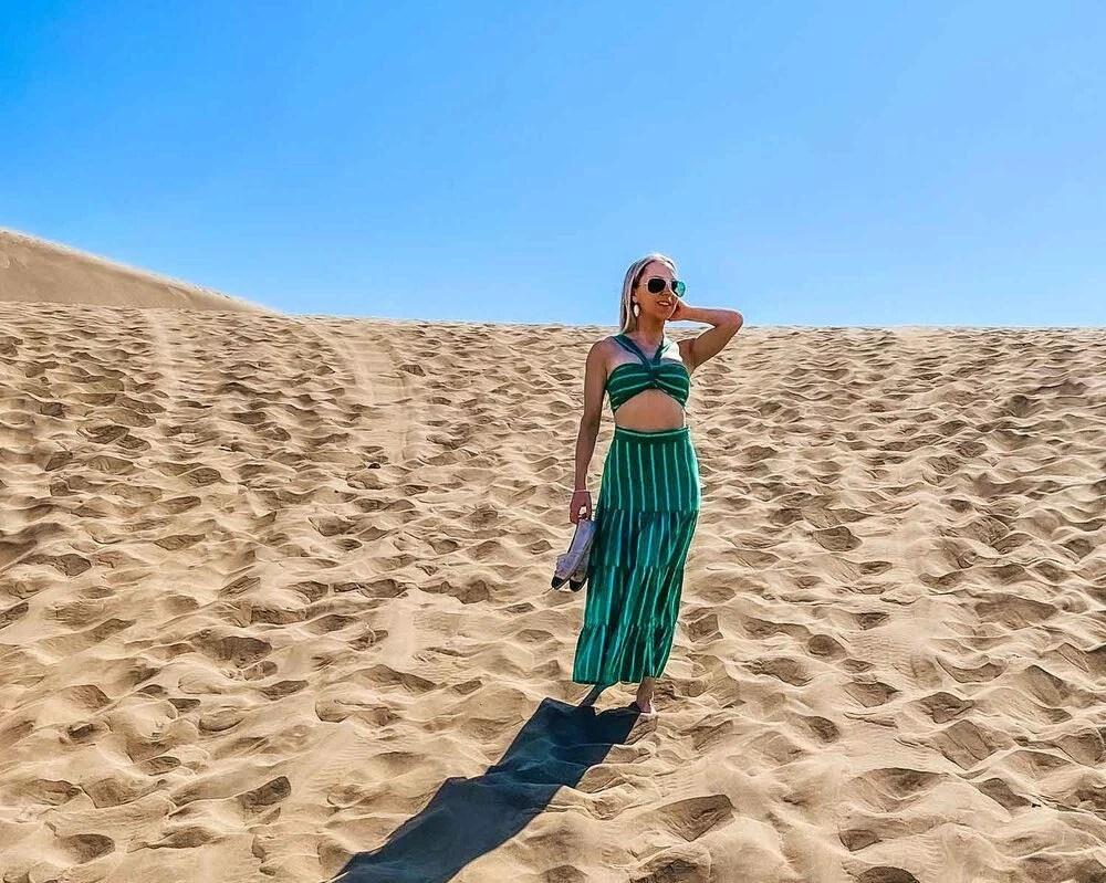bralette and skirt set Eve Dawes beach Chile