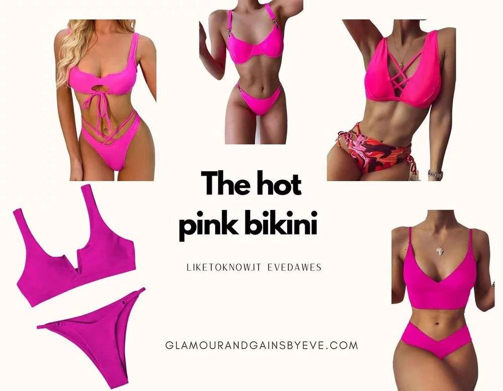 Too hot to handle Chloe Veitch 5 hot pink bikinis