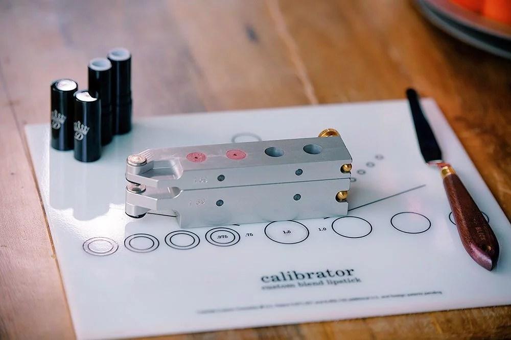 make your own lipstick mold calibrator dawes custom cosmetics