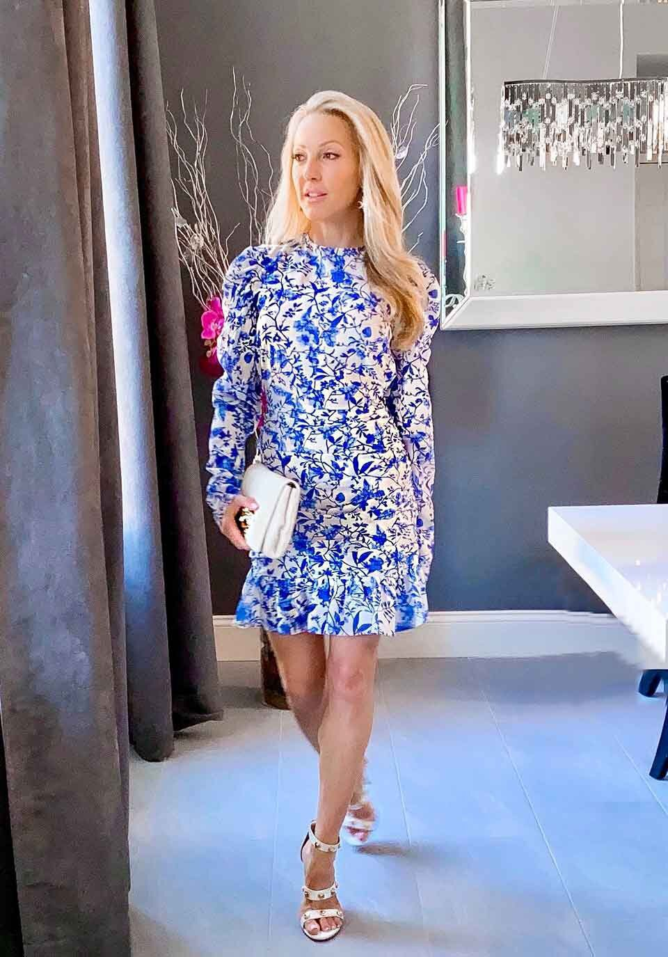 Cruelty free beauty blogger eve dawes blue dress