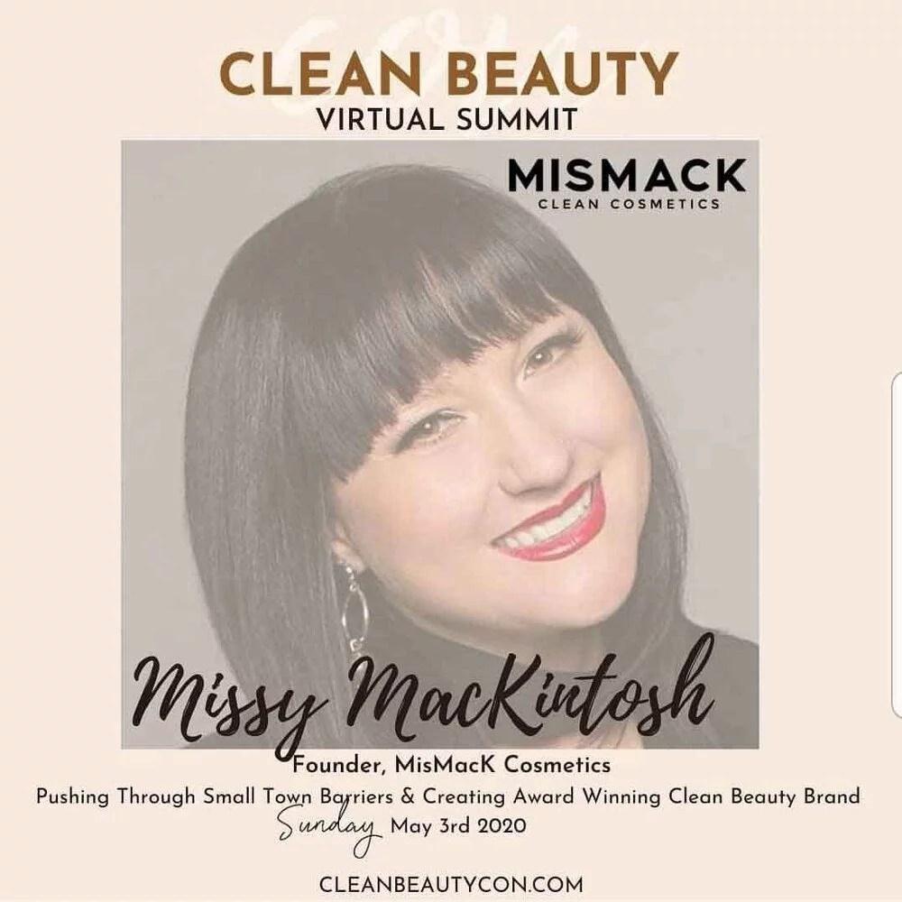 Clean Bueaty Summit talker makeup artist missy mackintosh headshot