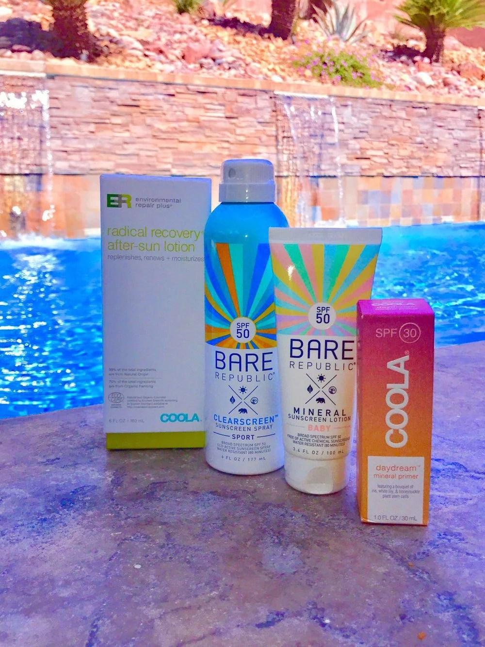 Best cruelty free sunscreen COOLA and Bare Republic SPF Skincare Range