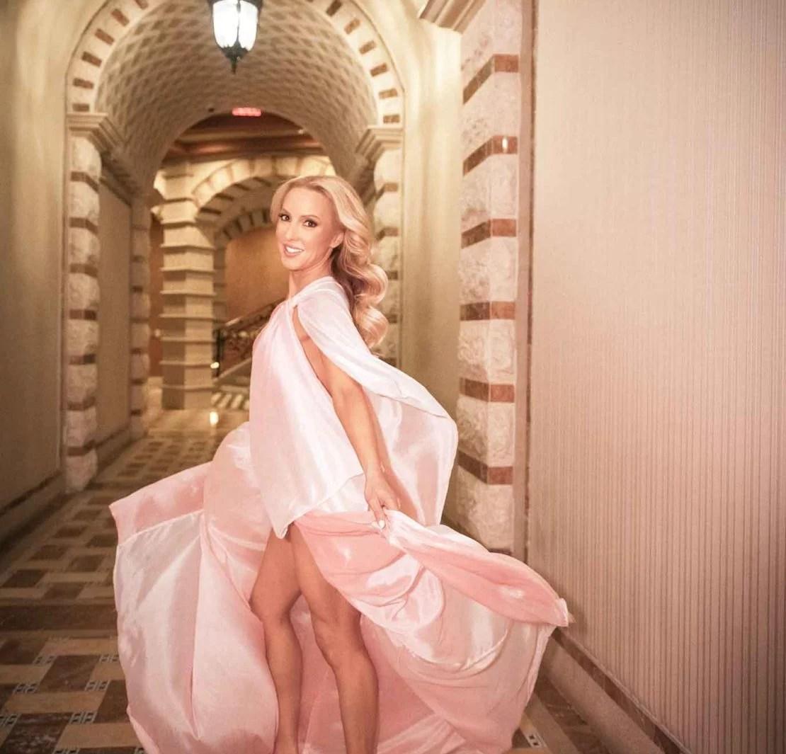 luxury fashion blog glamorous style pink dress