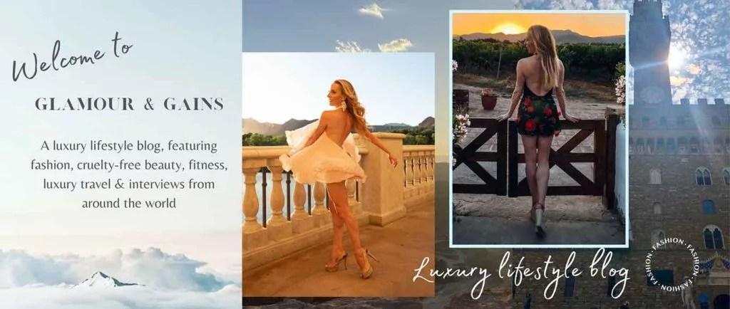 Luxury lifestyle blogger Eve Dawes sunset