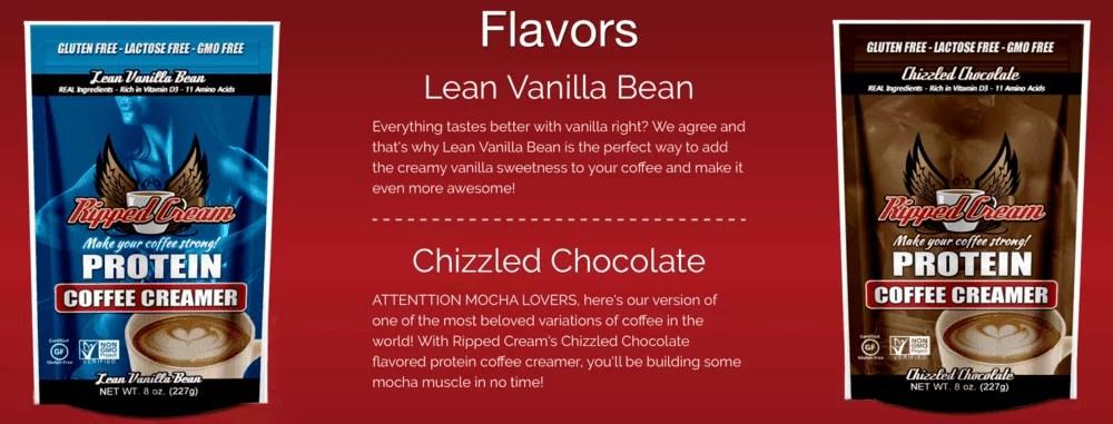 Ripped Cream coffee creamer vanilla chocolate details