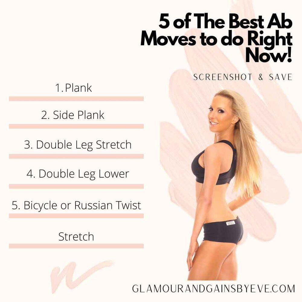 top 5 ab exercises Eve Dawes