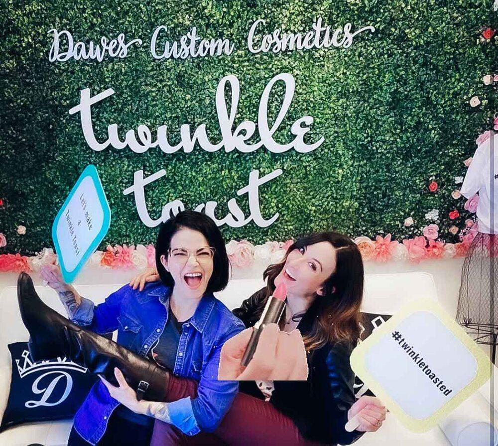 girls having fun cruelty-free luxury cosmetics lipstick lab