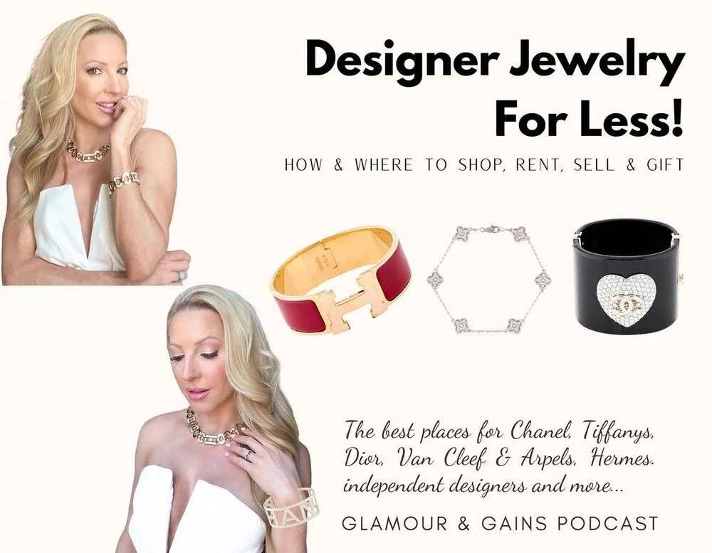 Affordable designer jewelry model Eve Dawes Chanel Hermes Van Cleef bracelets