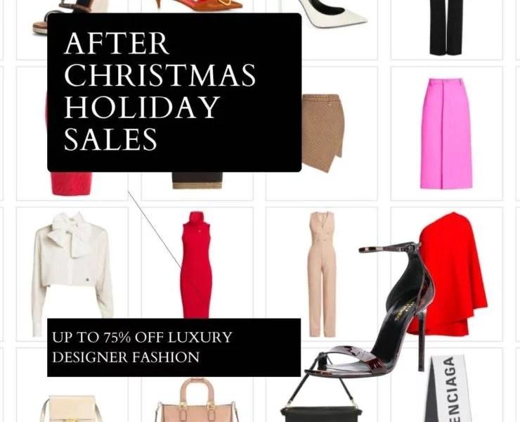 After Christmas Holiday sales designer fashion