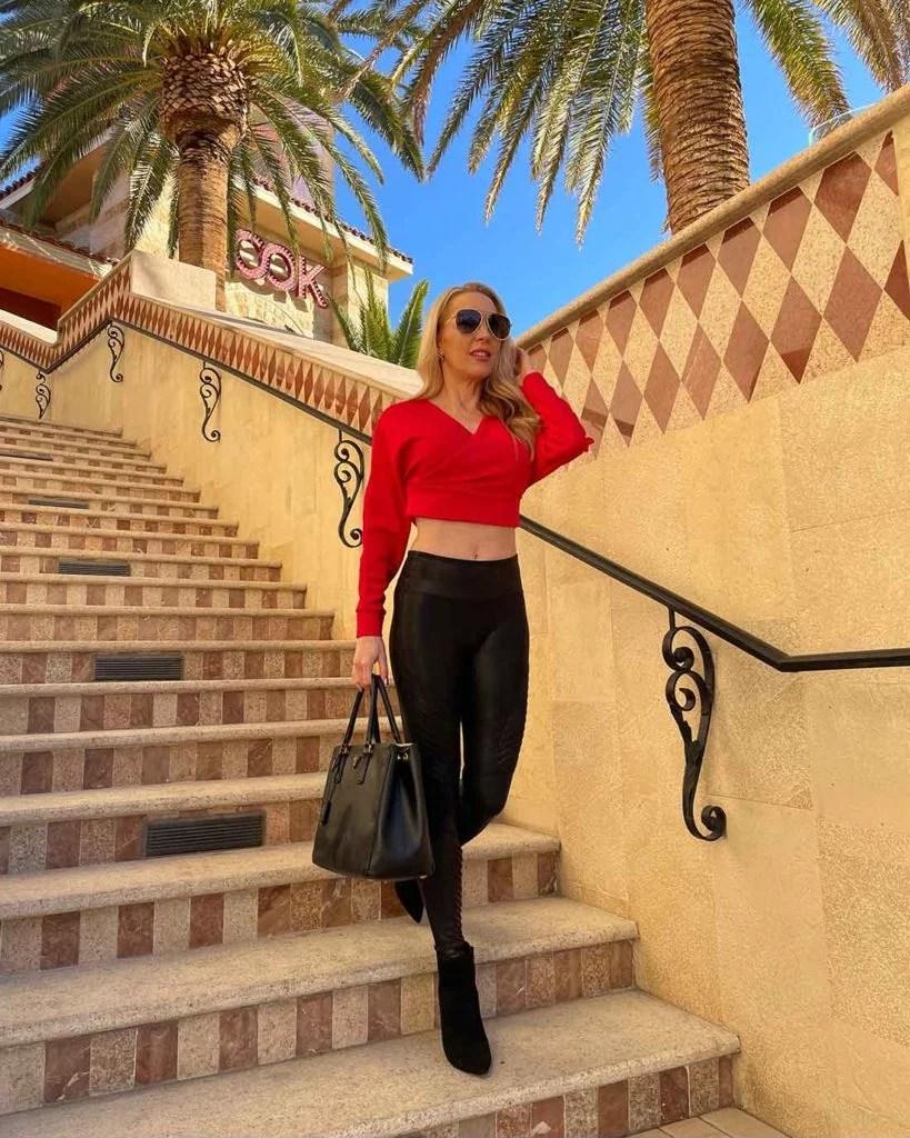 Femme Luxe red long sleeve crop top