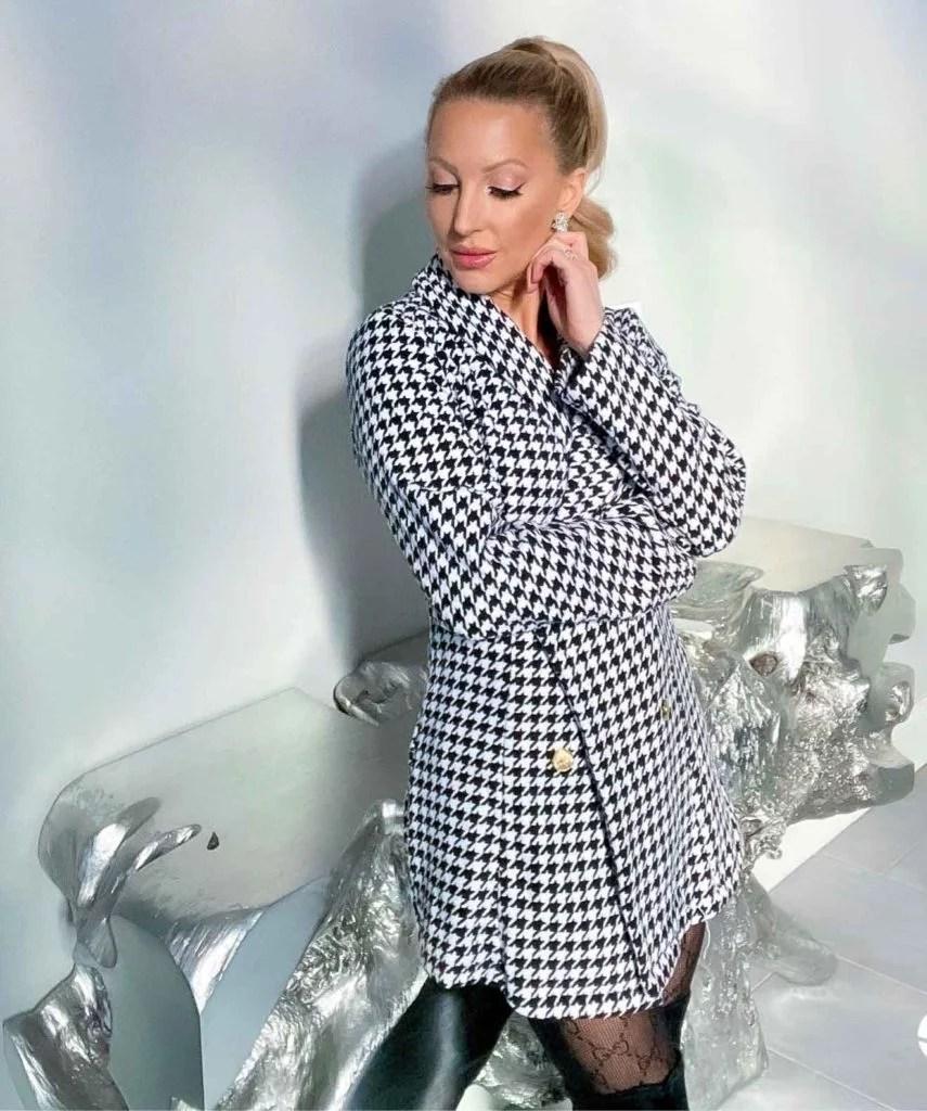 houndstooth blazer fashion blogger Eve Dawes