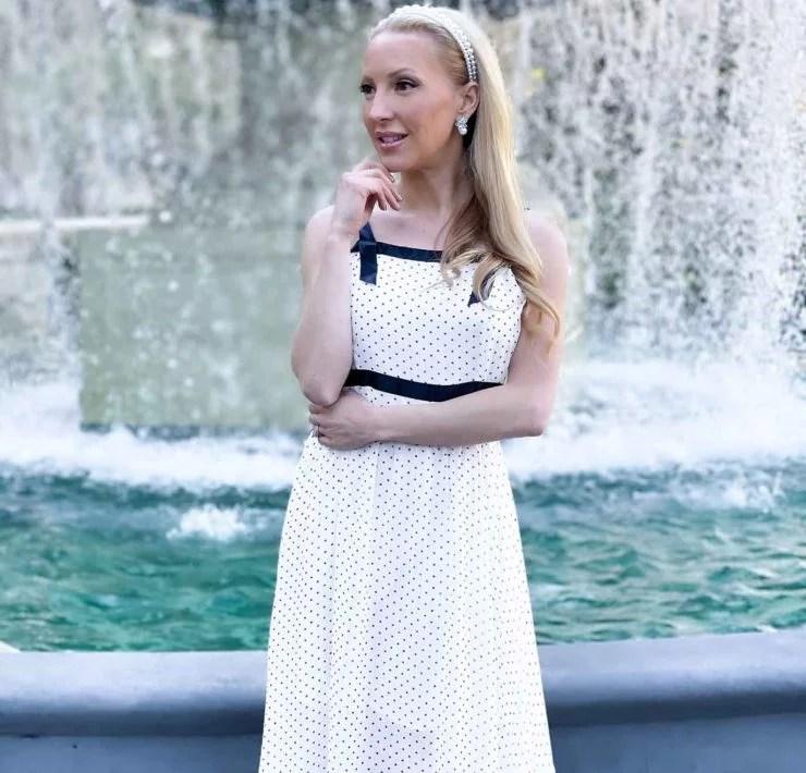 Bridgerton fashion empire waist dress pearls