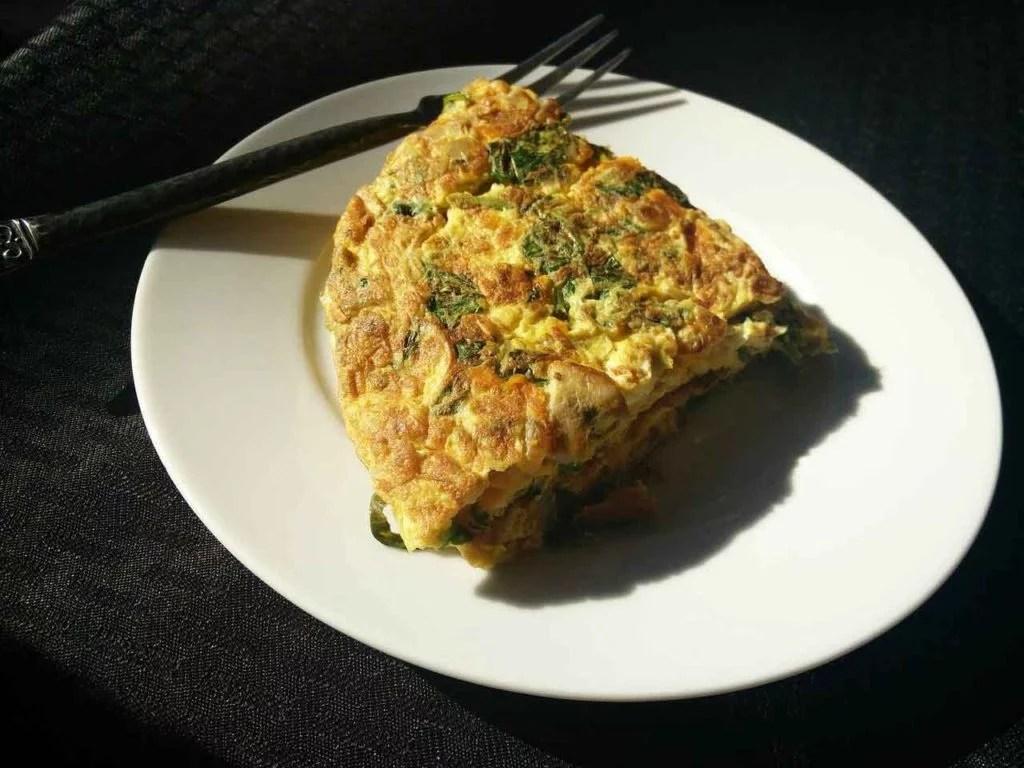 healthy breakfast idea egg white frittata