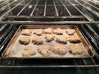 homemade oatcakes cooking oven