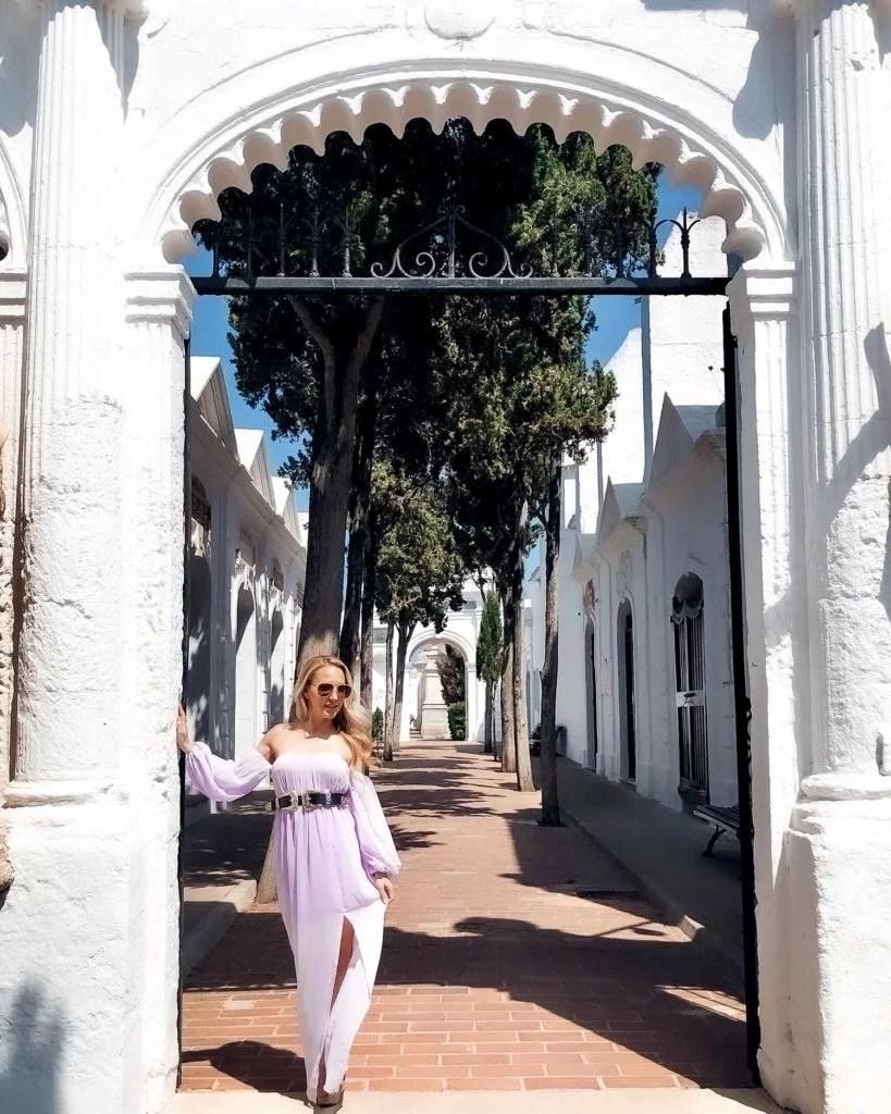 regency era inspired Lavendar empire waist dress fashion blogger Eve Dawes