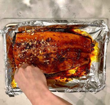 pecan crusted glazed oven baked salmon recipe