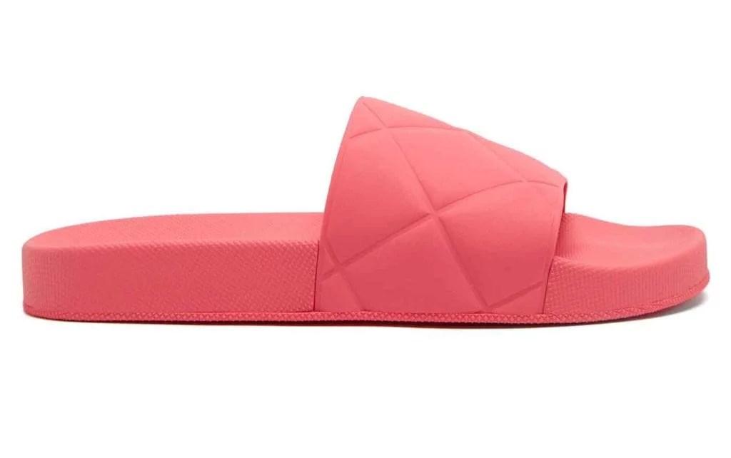 Bottege Venetta slides pink 2021 shoe trend