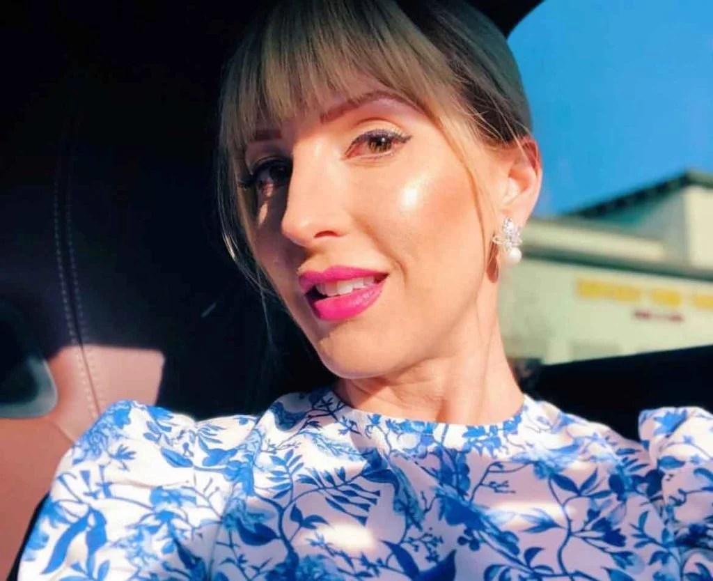 best highlighter makeup Cover FX custom enhancer drops blonde woman blue dress