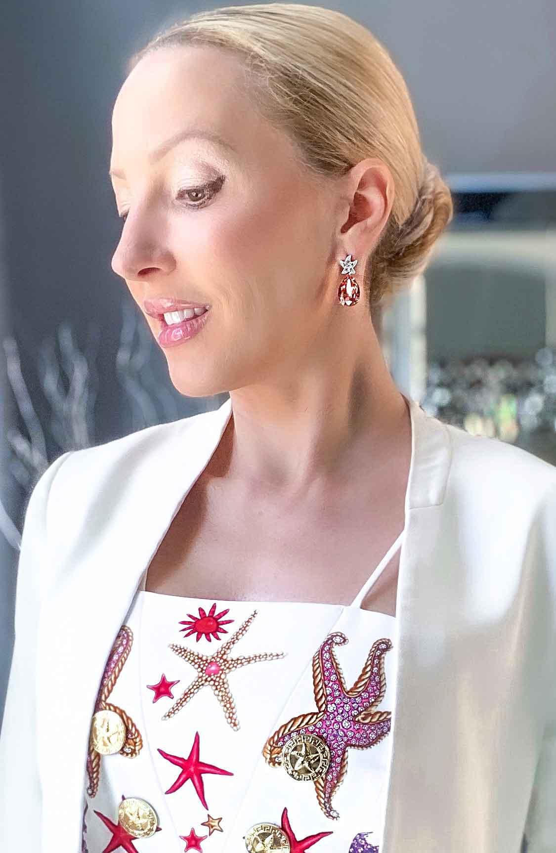 Versace bralette starfish print fashion blogger Eve Dawes