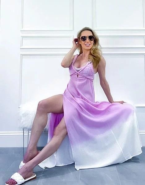 ASOS dress summer maxi dress ombre Glamour Gains fashion blogger