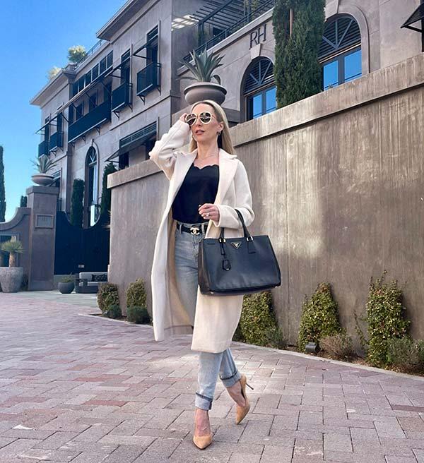 best womens winter coats neutral long cream coat