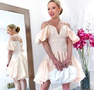 Summer Must Haves Wardrobe Essentials Glamour Gains Eve Dawes ASOS peach dress