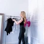 Best bodysuits wardrobe essentials black and white fashion blogger Eve Dawes