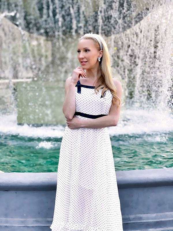 Chanel inspired black white dress outfit 2021 womens fashion