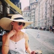 wide brimmed sun hat fashion blogger Italy