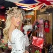 British fashion designer ICJUK old Hollywood glamour close up Eve Dawes