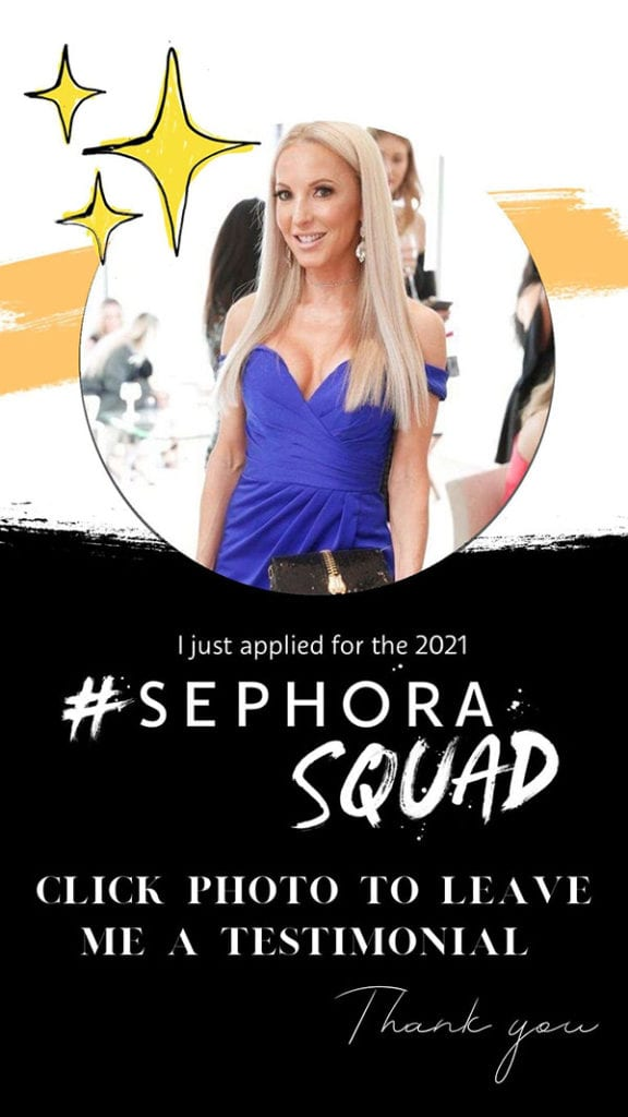 Sephora squad 2021 testimonials cruelty free beauty blogger Eve Dawes