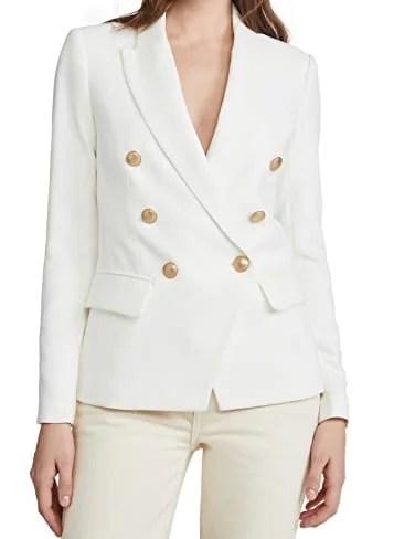 white double breasted blazer shopbop summer fashion essentials