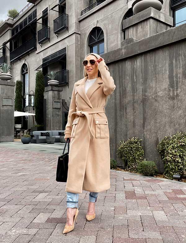 womens winter coat beige ASOS River Island Glamour Gains fashion blogger Eve Dawes