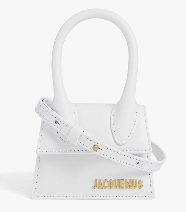 Jacquemus mini bag white flap crossbody