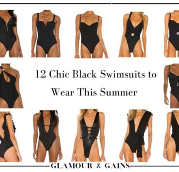 womens one piece swimsuits black Glamour Gains fashion