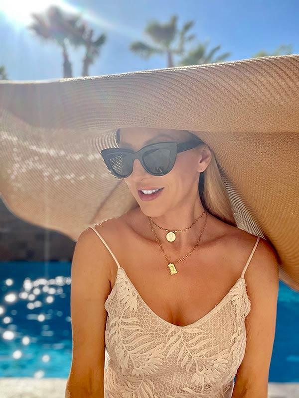 oversized sun hat Amazon beach vacation packing essentials