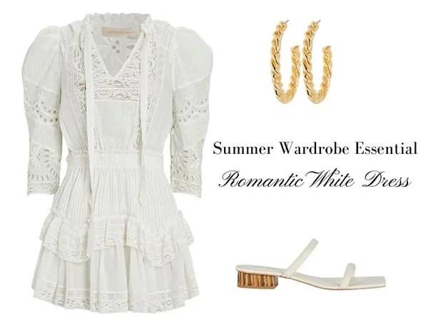 Loveshackfancy white mini dress summer fashion trend 2021