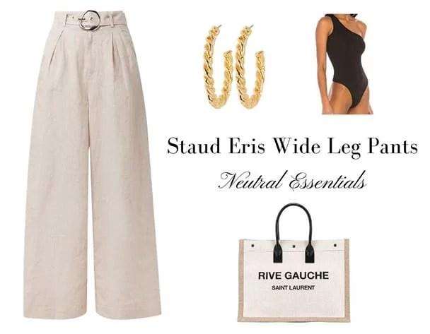 best fashion trends 2021 beige wide leg pants Intermix