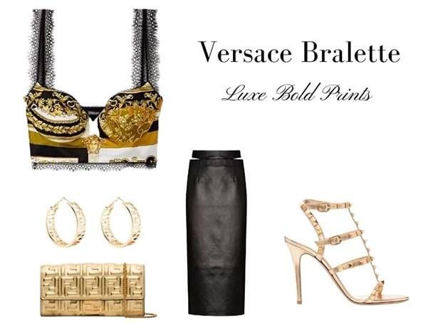 Versace bralette baroque print medusa head