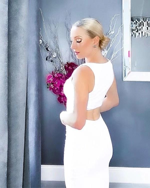 white bodycon dress summer 2021 fashion