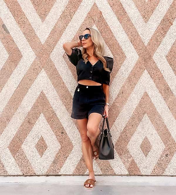 Holland Cooper monogram slides fashion blogger Glamour Gains