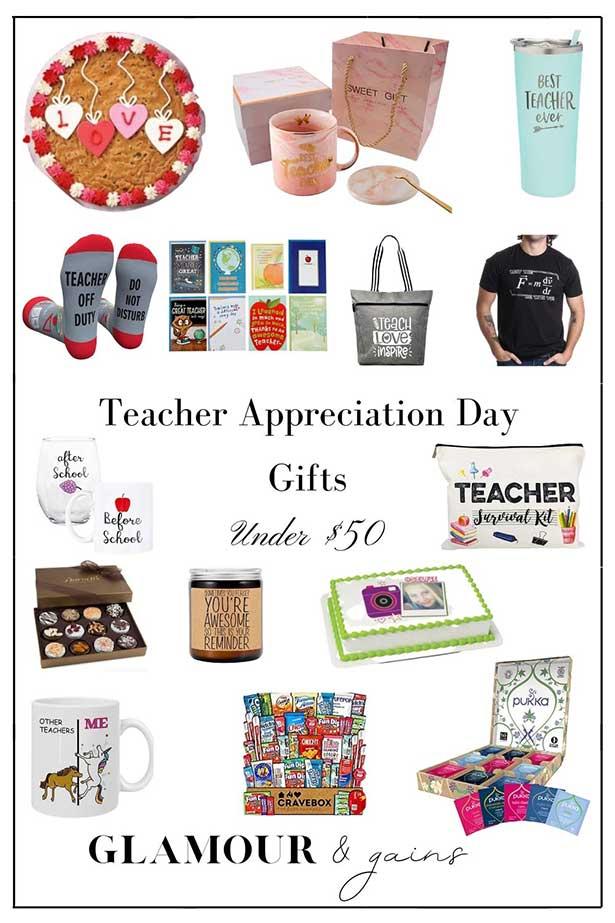 Teachers appreciation gifts teacher appreciation week 2021 glamour gains guide