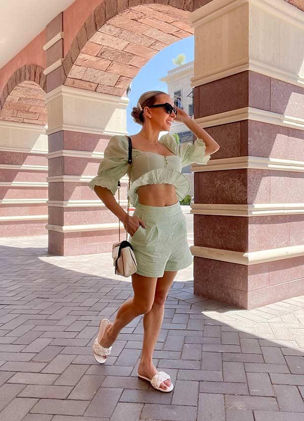 matching sets women shorts top Glamour Gains fashion blog