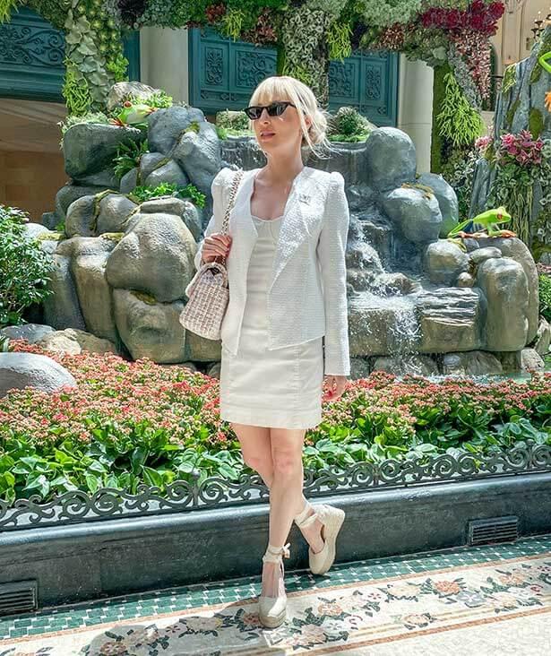 American fashion blogger Castañer Carina espadrilles waterfall