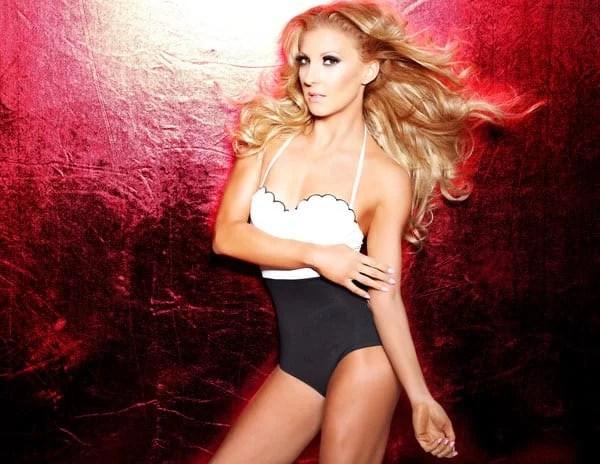 best luxury designer swimwear one piece black white swimsuit bikini model