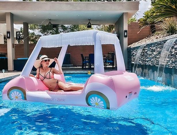 Barbie Funboy golf cart pool float water