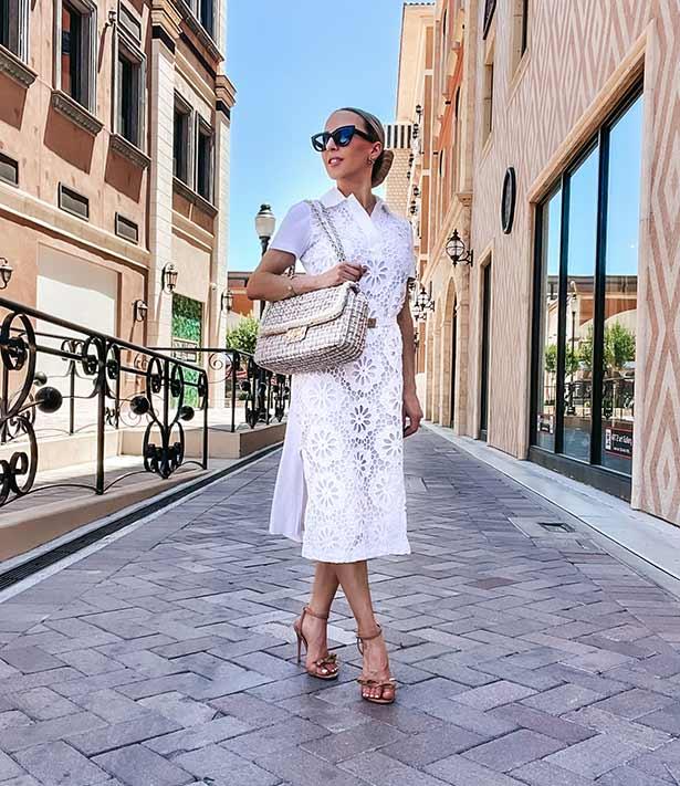 Karl Lagerfeld tweed bag multicolor fashion blogger street Vegas